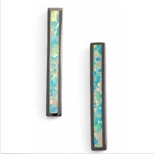 Kendra Scott Simone Gunmetal Stick Bar Stud